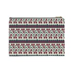 Winter Pattern 5 Cosmetic Bag (Large)  Back