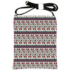 Winter Pattern 5 Shoulder Sling Bags by tarastyle