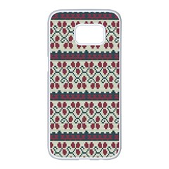 Winter Pattern 5 Samsung Galaxy S7 Edge White Seamless Case by tarastyle