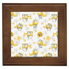 Winter Pattern 6 Framed Tiles by tarastyle