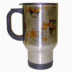 Winter Pattern 6 Travel Mug (silver Gray) by tarastyle