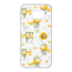 Winter Pattern 6 Samsung Galaxy S7 Edge White Seamless Case by tarastyle