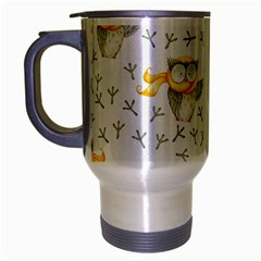 Winter Pattern 7 Travel Mug (silver Gray) by tarastyle