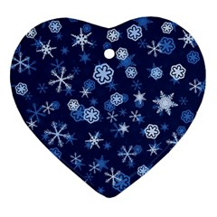 Winter Pattern 8 Ornament (heart) by tarastyle
