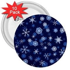 Winter Pattern 8 3  Buttons (10 Pack)  by tarastyle
