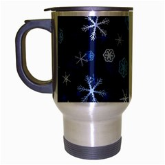 Winter Pattern 8 Travel Mug (silver Gray) by tarastyle