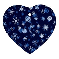Winter Pattern 8 Heart Ornament (two Sides) by tarastyle