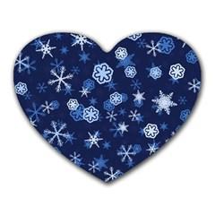 Winter Pattern 8 Heart Mousepads by tarastyle