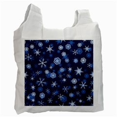 Winter Pattern 8 Recycle Bag (one Side) by tarastyle