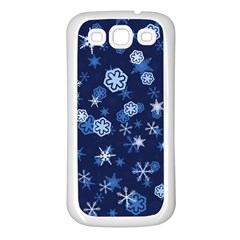 Winter Pattern 8 Samsung Galaxy S3 Back Case (white) by tarastyle