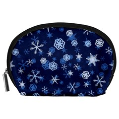 Winter Pattern 8 Accessory Pouches (large)  by tarastyle