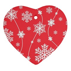 Winter Pattern 9 Ornament (heart) by tarastyle