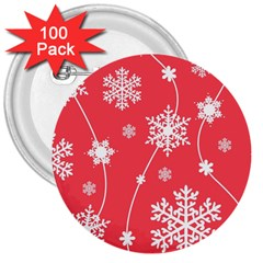 Winter Pattern 9 3  Buttons (100 Pack)  by tarastyle