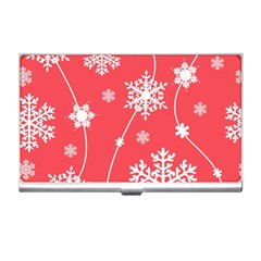 Winter Pattern 9 Business Card Holders by tarastyle