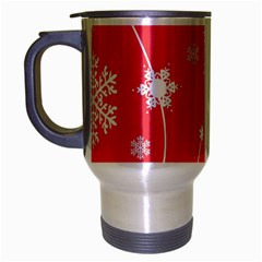 Winter Pattern 9 Travel Mug (silver Gray) by tarastyle