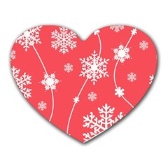 Winter Pattern 9 Heart Mousepads by tarastyle
