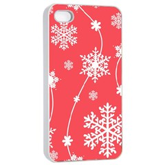 Winter Pattern 9 Apple Iphone 4/4s Seamless Case (white) by tarastyle