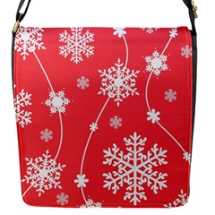 Winter Pattern 9 Flap Messenger Bag (s) by tarastyle