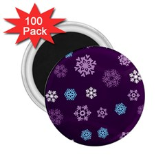 Winter Pattern 10 2 25  Magnets (100 Pack)  by tarastyle