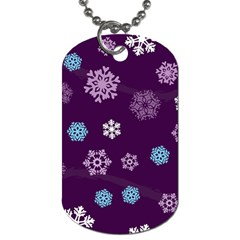 Winter Pattern 10 Dog Tag (two Sides) by tarastyle