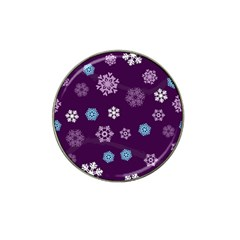 Winter Pattern 10 Hat Clip Ball Marker (4 Pack) by tarastyle