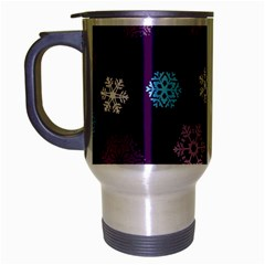 Winter Pattern 10 Travel Mug (silver Gray) by tarastyle