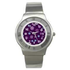 Winter Pattern 10 Stainless Steel Watch by tarastyle