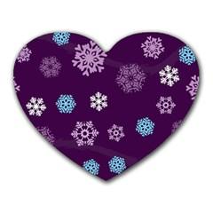 Winter Pattern 10 Heart Mousepads by tarastyle