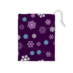 Winter Pattern 10 Drawstring Pouches (medium)  by tarastyle