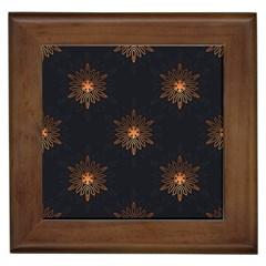 Winter Pattern 11 Framed Tiles by tarastyle