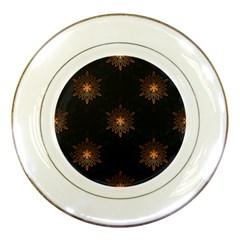 Winter Pattern 11 Porcelain Plates by tarastyle