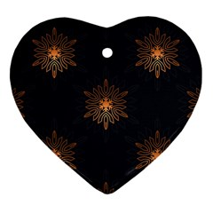 Winter Pattern 11 Heart Ornament (two Sides) by tarastyle