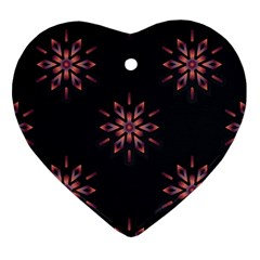 Winter Pattern 12 Heart Ornament (two Sides) by tarastyle