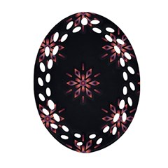 Winter Pattern 12 Oval Filigree Ornament (two Sides) by tarastyle