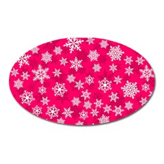 Winter Pattern 13 Oval Magnet by tarastyle