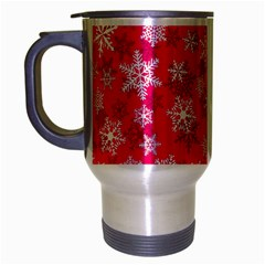 Winter Pattern 13 Travel Mug (silver Gray) by tarastyle