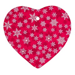 Winter Pattern 13 Heart Ornament (two Sides) by tarastyle