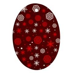 Winter Pattern 14 Ornament (oval) by tarastyle