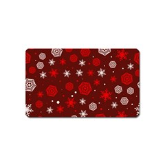 Winter Pattern 14 Magnet (name Card) by tarastyle