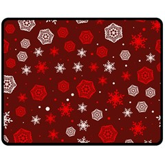 Winter Pattern 14 Double Sided Fleece Blanket (medium)