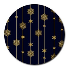 Winter Pattern 15 Round Mousepads by tarastyle