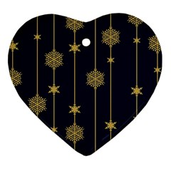 Winter Pattern 15 Heart Ornament (two Sides) by tarastyle