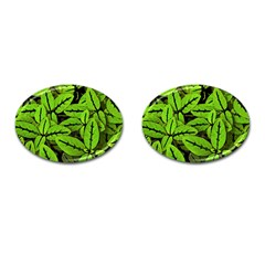 Nature Print Pattern Cufflinks (oval) by dflcprints