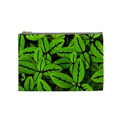Nature Print Pattern Cosmetic Bag (medium)