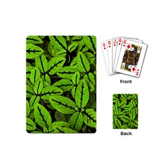 Nature Print Pattern Playing Cards (mini)  by dflcprints