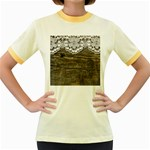 Shabbychicwoodwall Women s Fitted Ringer T-Shirts