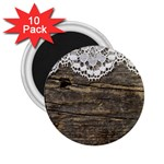 Shabbychicwoodwall 2.25  Magnets (10 pack)
