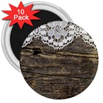 Shabbychicwoodwall 3  Magnets (10 pack)