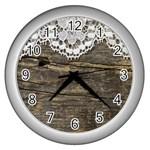 Shabbychicwoodwall Wall Clocks (Silver)