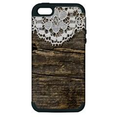 Shabbychicwoodwall Apple Iphone 5 Hardshell Case (pc+silicone) by 8fugoso